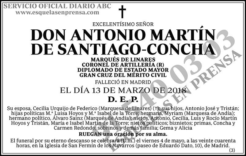 Antonio Martín de Santiago-Concha